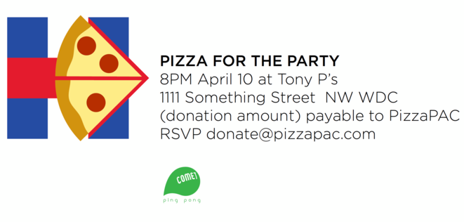 Pizza for the Party invitation Logo