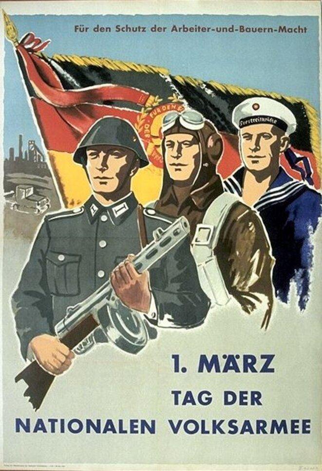 Affiche de feue la République Démocratique Allemande