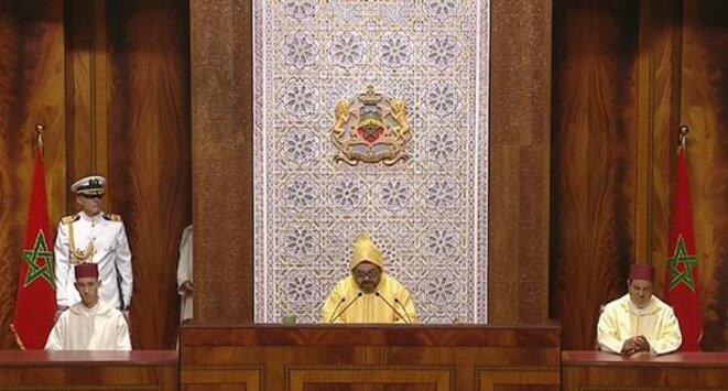 Le roi Mohammed VI du Maroc au Poarlement
