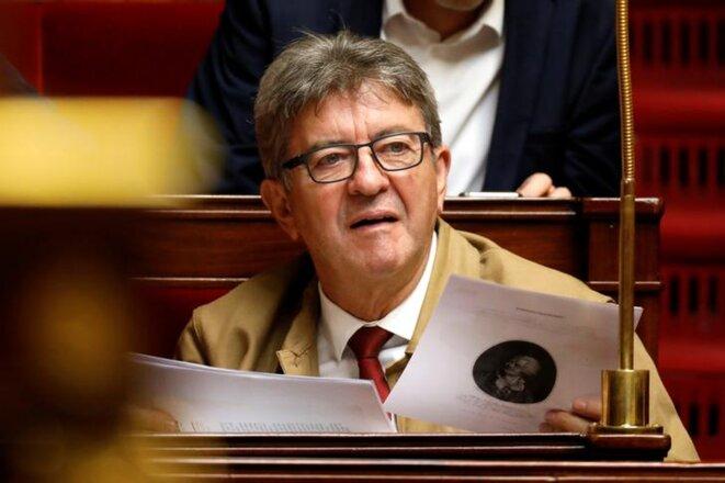 Jean-Luc Mélenchon le 17 septembre à l'Assemblée nationale. © Reuters