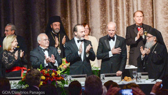 Vice President Joe Biden Recipient of the 2015 Athenagoras Human Rights Award © GOA/Dimitrios Panagos