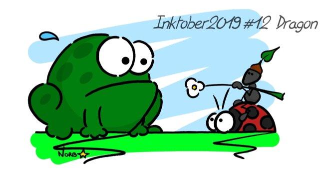 Inktober 2019 #12 Dragon (chevalier fourmi) © Norb