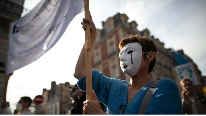 Rouen, le 12 octobre © Lou Benoist - AFP