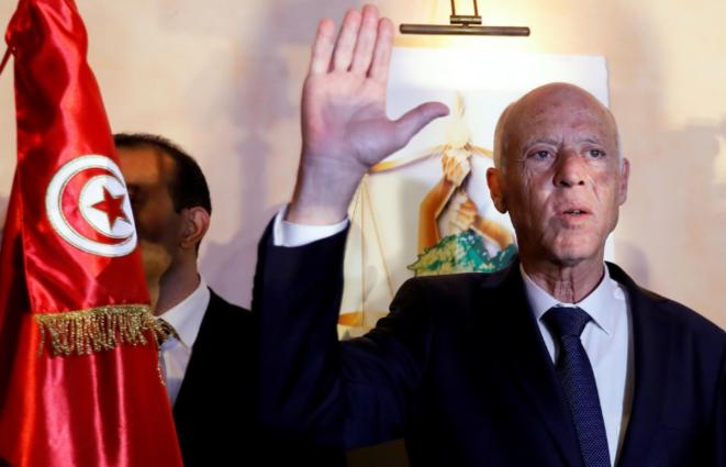 Kaïs Saïed, nouveau président de la Tunisie. © Reuters