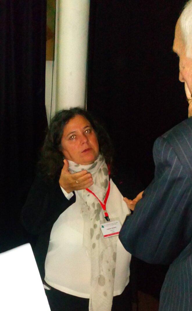 Dr Isabelle Amado à l'Université d'Automne de l'ARAPI, avec Ghislain Magerotte
