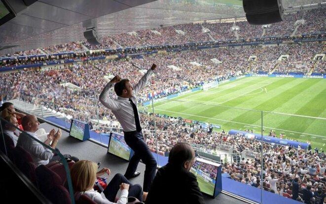 Le président Emmanuel Macron lors de la finale de la Coupe du monde 2018 | © Alexey Nikolsky