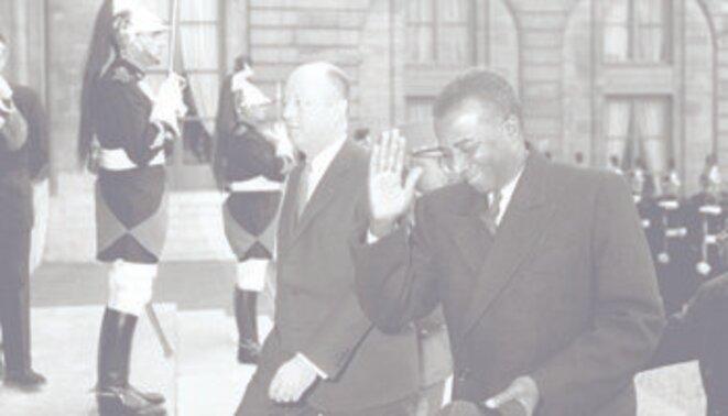 Sylvanus Olympio et Jacques Foccart à l'Elysée, mars 1962