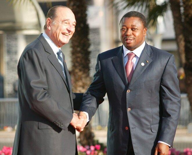 Faure Gnassingbé et Jacques Chirac en 2007