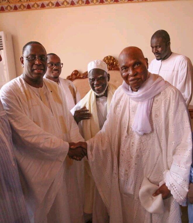 Retrouvailles de Me Abdoulaye Wade et de Macky Sall à Massallikoul Djinane