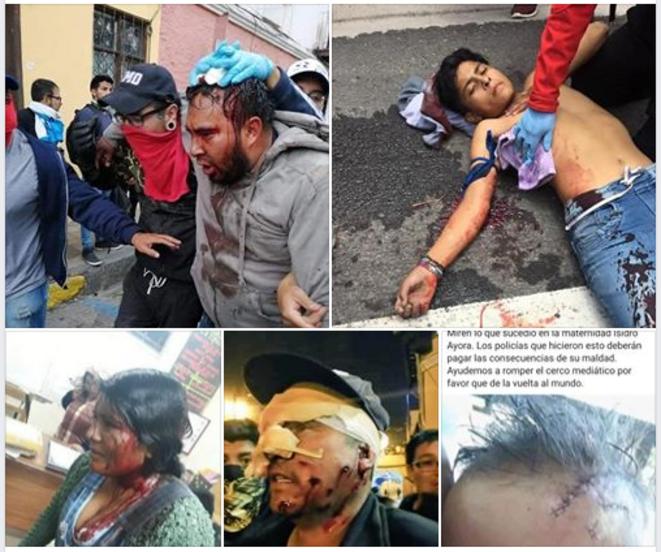 Violences policières contre la population © Les Équatoriens violemment réprimés