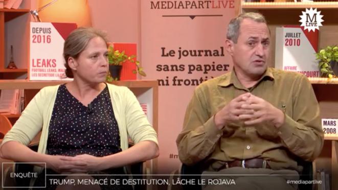 Dorothée Schmid et Gilles Dorronsoro © Mediapart