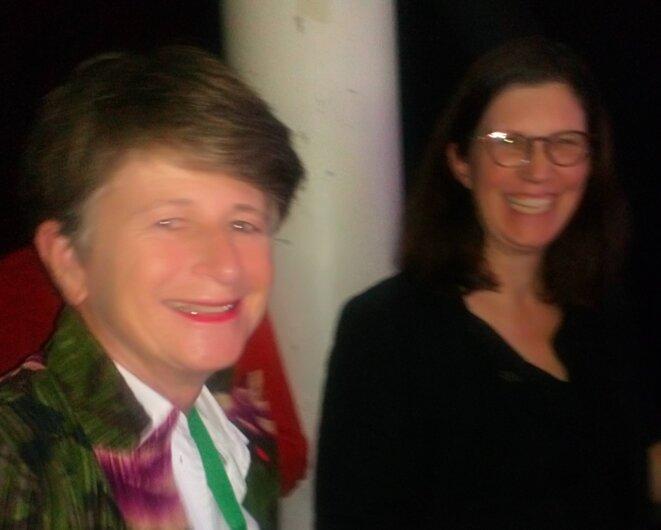 Delphine Corlay à l'Université d'Automne de l'ARAPI, avec Sophie Biette (UNAPEI)