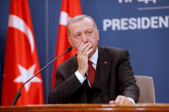 Le président turc Erdogan à Belgrade (Serbie), le 7 octobre 2019. © REUTERS/Djordje Kojadinovic
