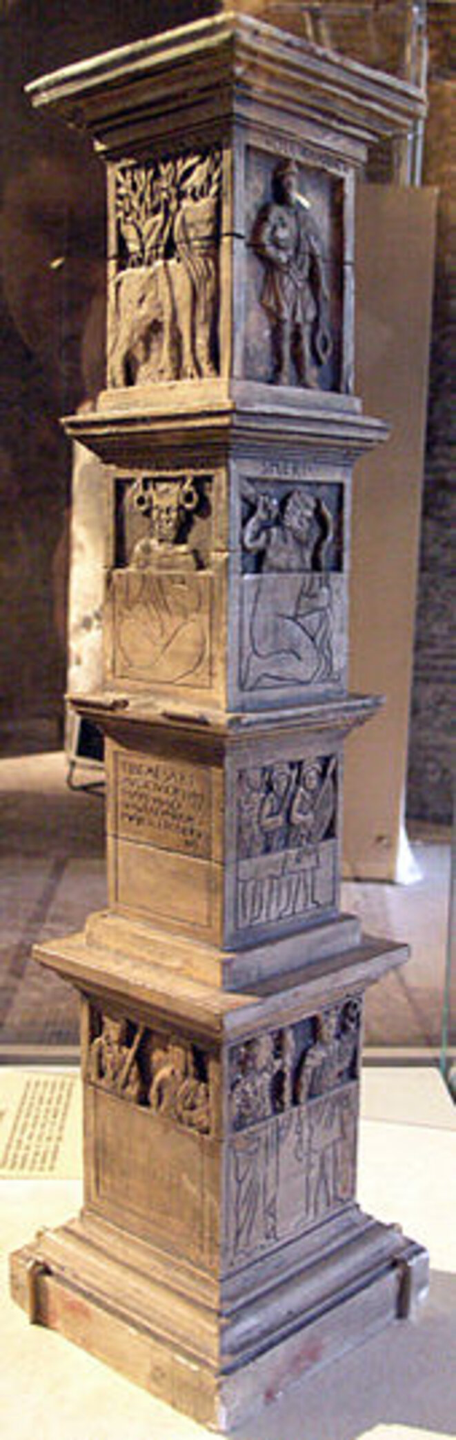 Maquette Pilier des Nautes. Musée Cluny