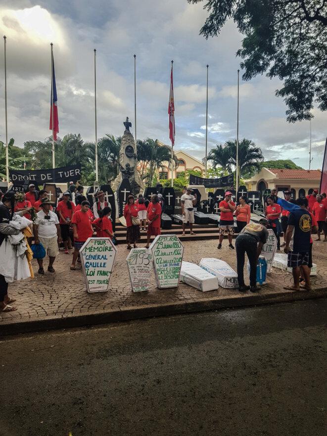 L'Association 193, le 2 juillet 2019 devant le monument aux morts.