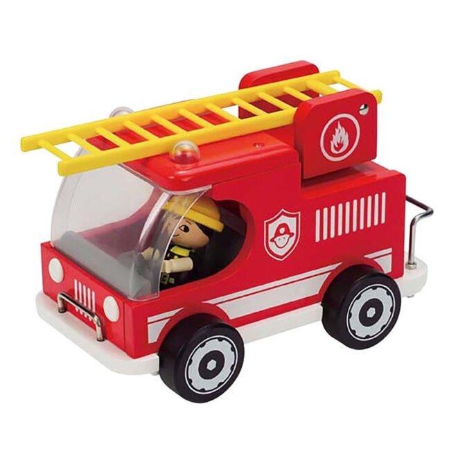 camion-de-pompier-en-bois-avec-grande-echelle-hape-jouets-en-bois