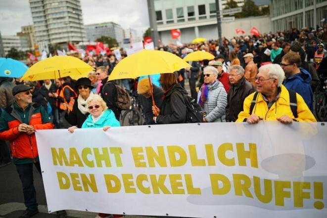 Manifestación contra el elevado precio de los alquileres en Berlín (Alemania), el 3 de octubre de 2019. © REUTERS/Hannibal Hanschke