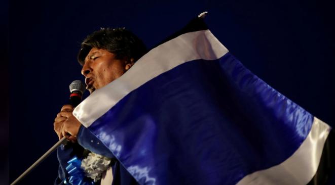 Evo Morales, lors de son dernier meeting, le 16 octobre. © Reuters