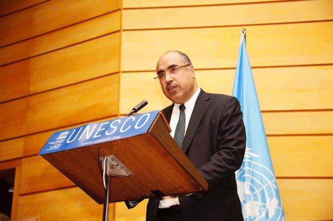 UNESCO, Paris. - Le Pr. Ibrahim ALBALAWI Ambassadeur, Délégué Permanent du Royaume d'Arabie Saoudite auprès de l'UNESCO Membre du Comité de pilotage de l'Année internationale des langues autochtones 2019