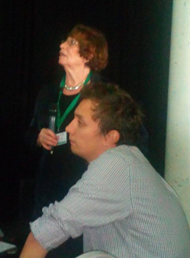 Quentin Guillon avec Jacquelline Nadel à l'Université d'Automne de l'ARAPI