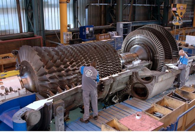 Turbines à gaz fabriquées sur le site de GE à Belfort. © DR