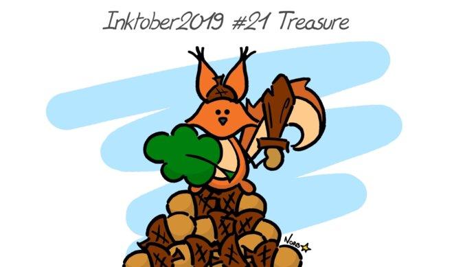 Inktober 2019 #21 Treasure (écureuil) © Norb