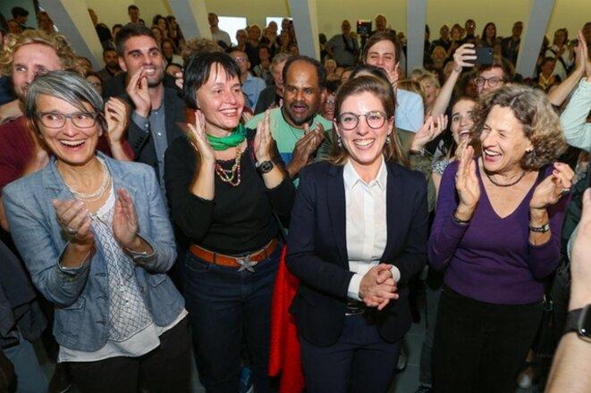 Verts suisses lors de la soirée électorale du 20 octobre 2019 © Keystone / Eddy Risch