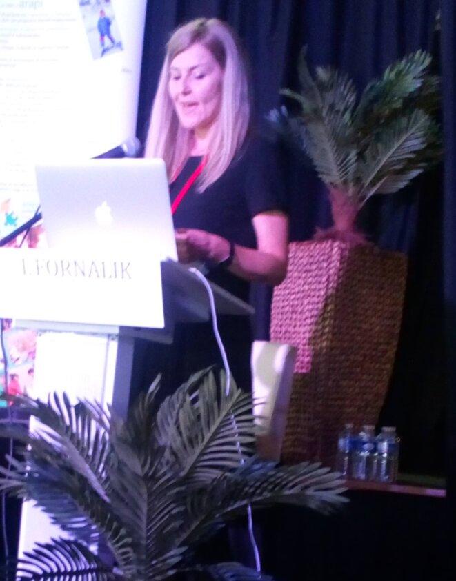 Izabela Fornalik à l'Université d'Automne de l'ARAPI