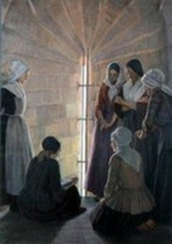 Les prisonnières, tableau de Jeanne Lombard