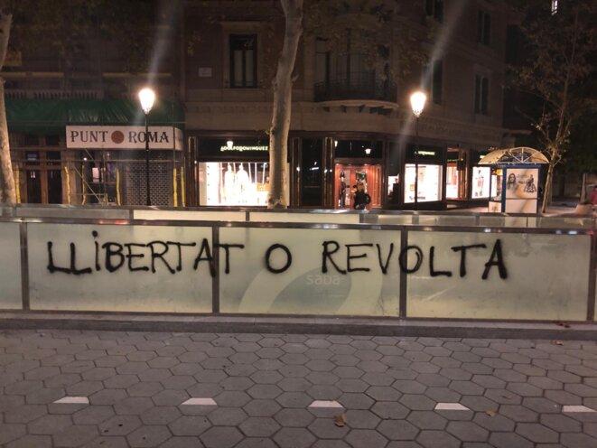 Dans les rues de Barcelone, dimanche 20 octobre. © LL