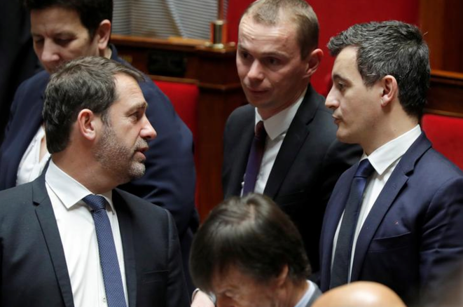 Interior minister Christophe Castane, left, and budget minister Gérald Darmanin, right, were the first to raise the issue after the 2019 European elections. © Reuters