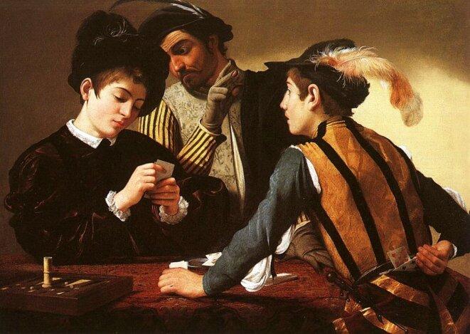 """""""Les tricheurs"""", Le Caravage, vers 1594"""