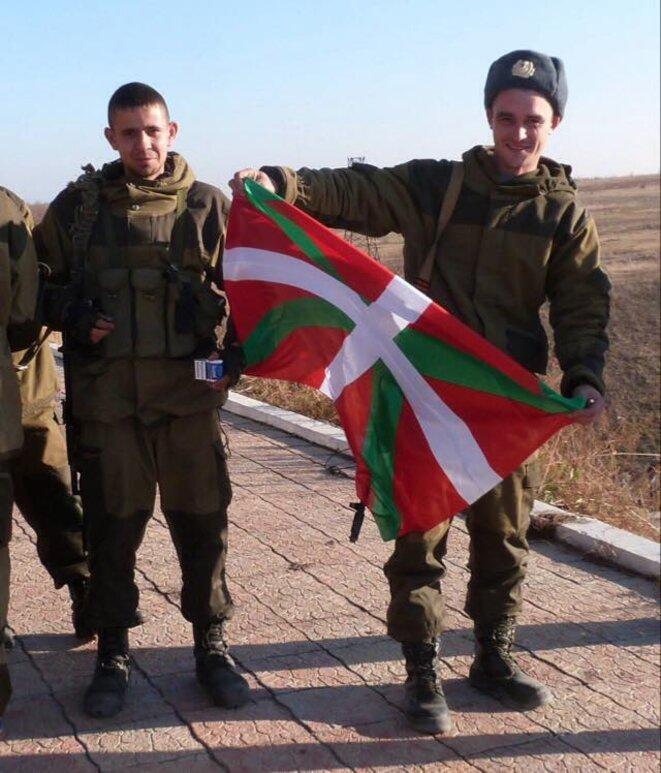 Le drapeau basque au Donbass. © http://www.confusionnisme.info