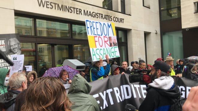 Manifestations pour la libération de Julian Assange © Eva Rodríguez