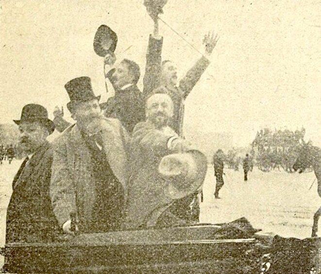 Entrée des députés du groupe antijuif à l'Assemblée nationale (1898)
