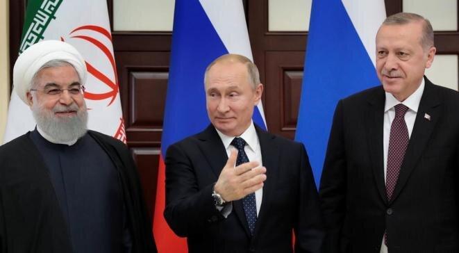 Los hombres fuertes de Oriente Medio: el iraní Rouhani, el ruso Putin y el turco Erdogan. © Reuters