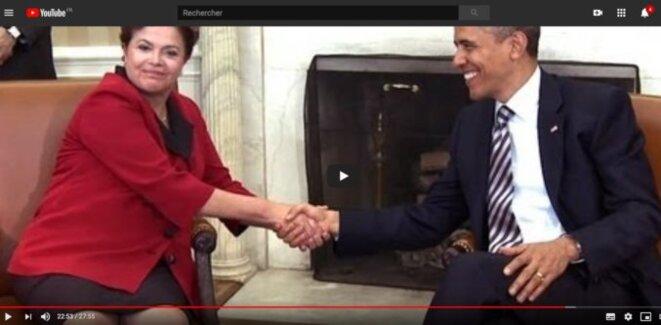 Visite de Dilma Rousseff aux USA, avril 2012