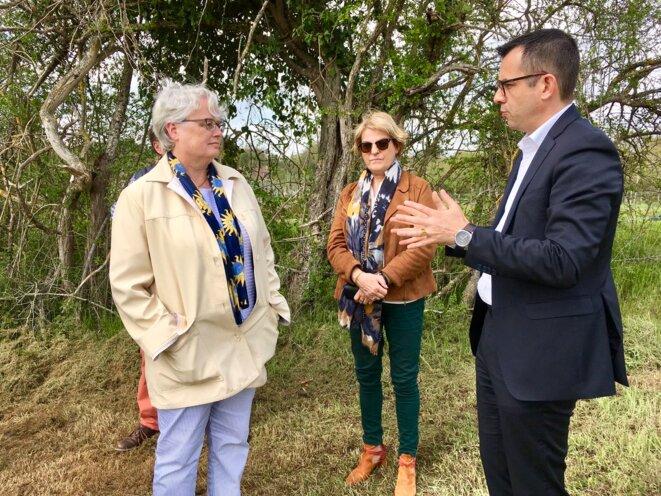 Marie-Françoise Lecaillon (à gauche) est préfète de l'Allier depuis janvier 2018, Claude Riboulet président du conseil départemental depuis septembre 2017. © Compte twitter @claude-riboulet (30.04.2019)