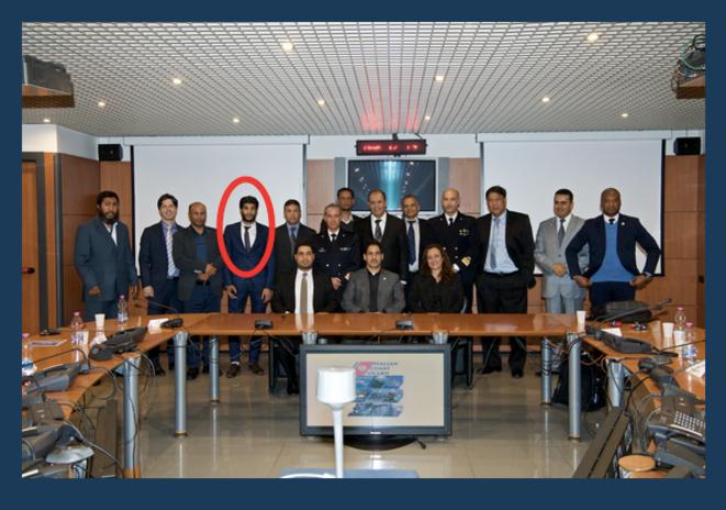 Le trafiquant libyen Abd al-Rahman al-Milad lors d'une réunion en mai 2017 à Rome. © Guardia Costiera
