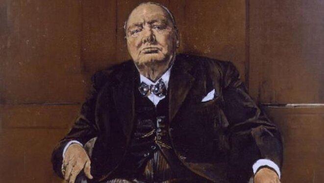 Le portrait de Churchill par Sutherland. © DR