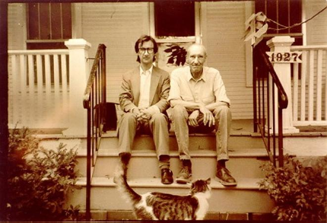 Victor Bockris et William Burroughs - Lawrence - Septembre 1990