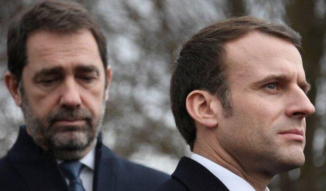 Christophe Castaner et Emmanuel Macron. © Reuters