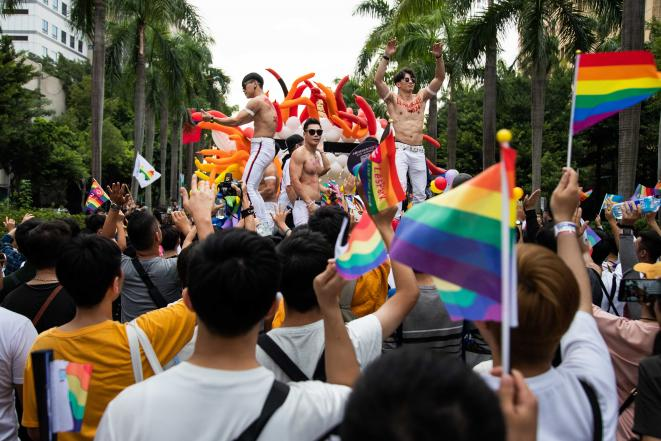À la marche des fiertés à Taipei (Taïwan), le samedi 26 octobre. © Marion Vercelot