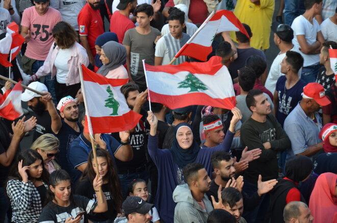 Manifestation à Tripoli (Liban), octobre 2019. © Justine Babin