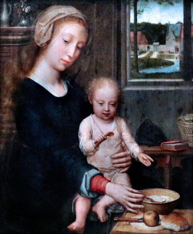 La Vierge à la soupe au lait, de Gérard David