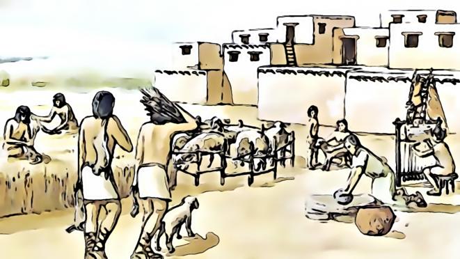 Artisans de la citée au néolithique © FRANC SERRES