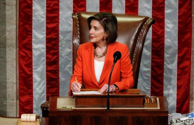 Nancy Pelosi, jeudi 31 octobre, présidente démocrate de la Chambre des représentants. © Reuters