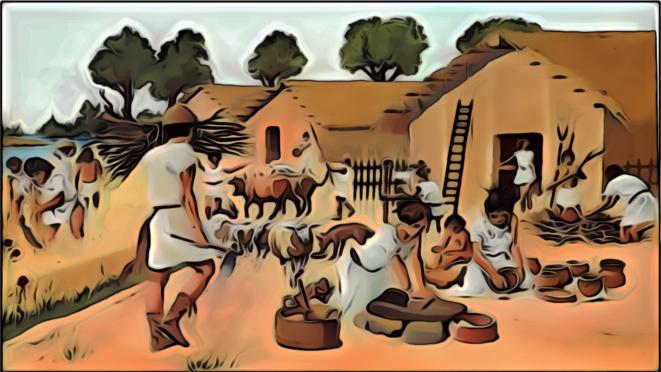 Village au néolithique © FRANC SERRES