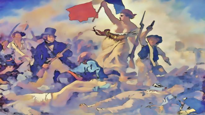 La liberté portant le peuple © FRANC SERRES