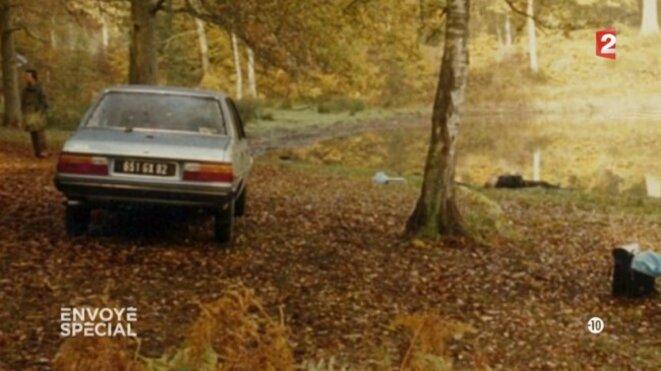 La 305, voiture personnelle du Ministre Boulin © Envoyé Spécial